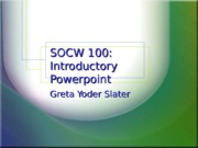 Introduction to Social Work PPT