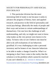 SOCIETY FOR PERSONALITY AND SOCIAL PSYCHOLOGY.docx