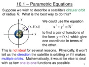 Lecture 16 - Parametric Equations