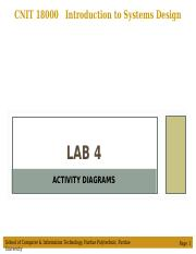 Lab 4 - Activity Diagrams