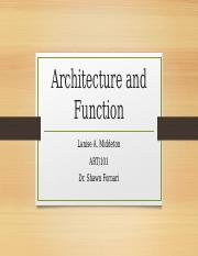 Architecture and Function.pptm