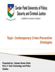 contemporary crime prevention by Sameer.pptx