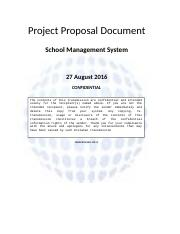 school portal - Project Proposal Document School Management System