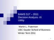 decision analysis_III_2011