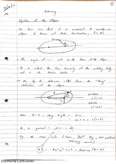 Equation of the Ellipse Lecture Notes