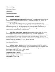 Principles of Finance- Assignment 2.docx