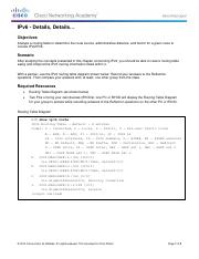 7.6.1.1 Class Activity - IPv6 - Details, Details mitchell france