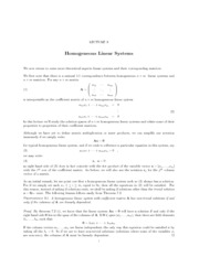 Lecture 9 Homogeneous Linear Systems