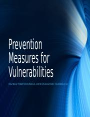 Prevention Measures for Vulnerabilities individual week 4.pptm
