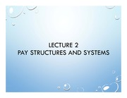 Lecture 2 pay structures