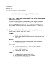 Week 2 Case - IBM Using Strategy to Build A 'Smarter Planet'.docx