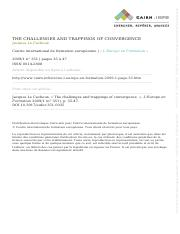 Session 5 - Jacques Le Cacheux - The Challenges and Trappings of Convergence - 2009.pdf