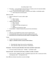 Accounting 201 Chapter 2 notes