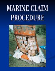 MARINE CLAIM PROCEDURE.ppt