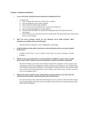 Chapter 1 Lab Review Questions