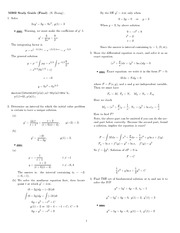 Final Exam Study Guide Solution Winter 2008 on Ordinary Differential Equations
