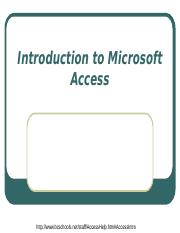 05_Introduction to Microsoft Access-supplementary.ppt