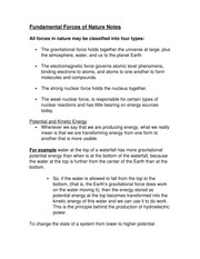 Fundamental Forces of Nature Notes