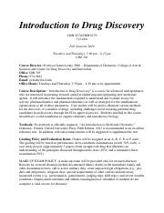 Introduction to Drug Discovery Syllabus.pdf