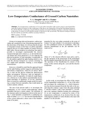 Low-Temperature Conductance of Crossed Carbon Nanotubes