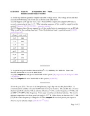 Exam A Fall 2013 Solutions on Modern Communications Theory