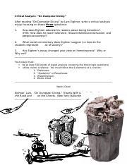 Dumpster diving essay
