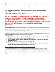 1.08_Graded Assignment_WhatAreYourCareerInterests_Reflection on Career Interest Assessment.doc