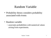 Revision 05. Random Variable Binomial