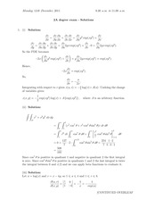 Answers to Linear Algebra Degree Exam 2011 (solutions)