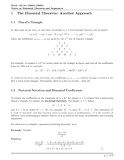 Math 152 Binomial Theorem