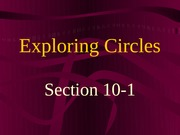 10-1 Circles and Circumferences