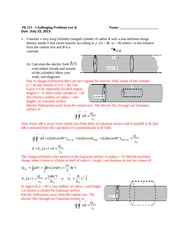 Challenge Problem Session 4 Solution on General Physics