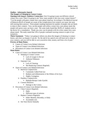 Informative Outline - Jordan Luther Section 18 Outline Informative ...