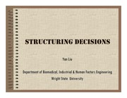 Lecture Notes on Structuring Decisions (Part I)
