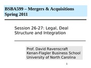 Class 26 MA BSBA 2011 Legal and Deal Structure (1)