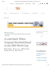 A Look Back_ When Uruguay Shocked Brazil in the 1950 World Cup - World Soccer Talk