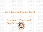 Lab 3 Electric Circuits Part 1
