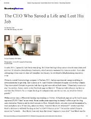 Case 1_The CEO Who Saved a Life and Lost His Job