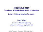 EE121B 2014F Lecture 5-BJT-updated