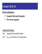 Lecture 24 & 25-Standard Electrode Potentials and Nernst equation.ppt
