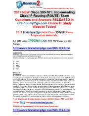 [2017-May]Braindump2go New 300-101 PDF Dumps and 300-101 VCE Dumps 295Q&As Free Share(1-8).pdf