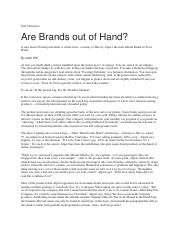 M5-Are Brands Out of Hand?