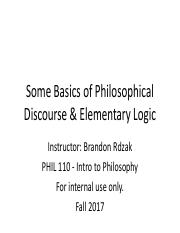 Some Basics of Philosophical Discourse and Elementary Logic - Part 1.pdf