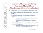 SES 311 NASA Astrobiology Program