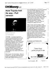 How Toyota Lost Its Way