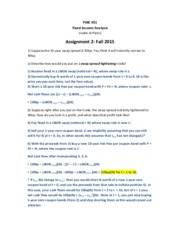 Assignment 2 Fall 2015  FINE 451 Solutions