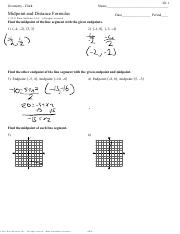 Edited - Distance- Midpoint- Endpoint worksheet pdf - ID 1