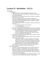 Rel 155 Lecture 25 - Revelation