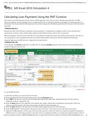 2 - Calculating Loan Payments Using the PMT Function