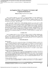 An Empirical Study of Corporate Governance and Corporate Performance.pdf
